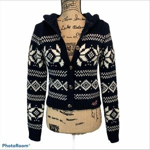 Hollister Fair Isle Cardigan Sweater